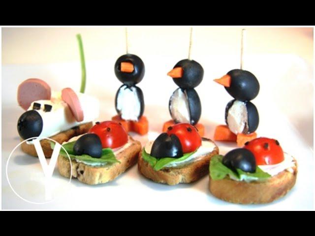 3 Aperitivos Para Niños 3 Snacks For Kids Aperitivos Para Navidad Youtube