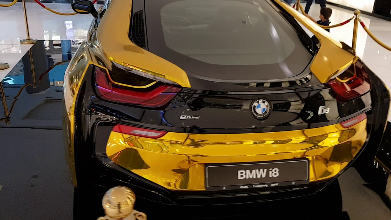 Bmw I8 Gold >> BMW i8 - gold - YouTube