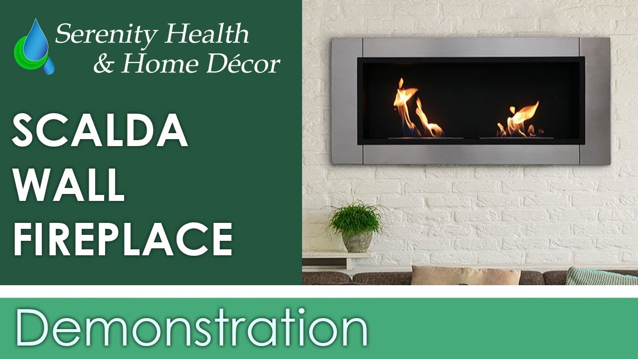 sunnydaze scalda ventless wall mounted bio ethanol fireplace yl
