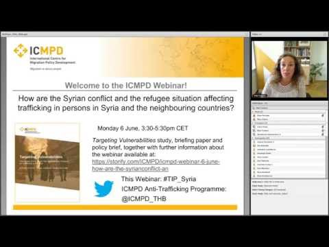 Webinar: The Impact of the Syrian War and Refugee Situation on Trafficking in Persons