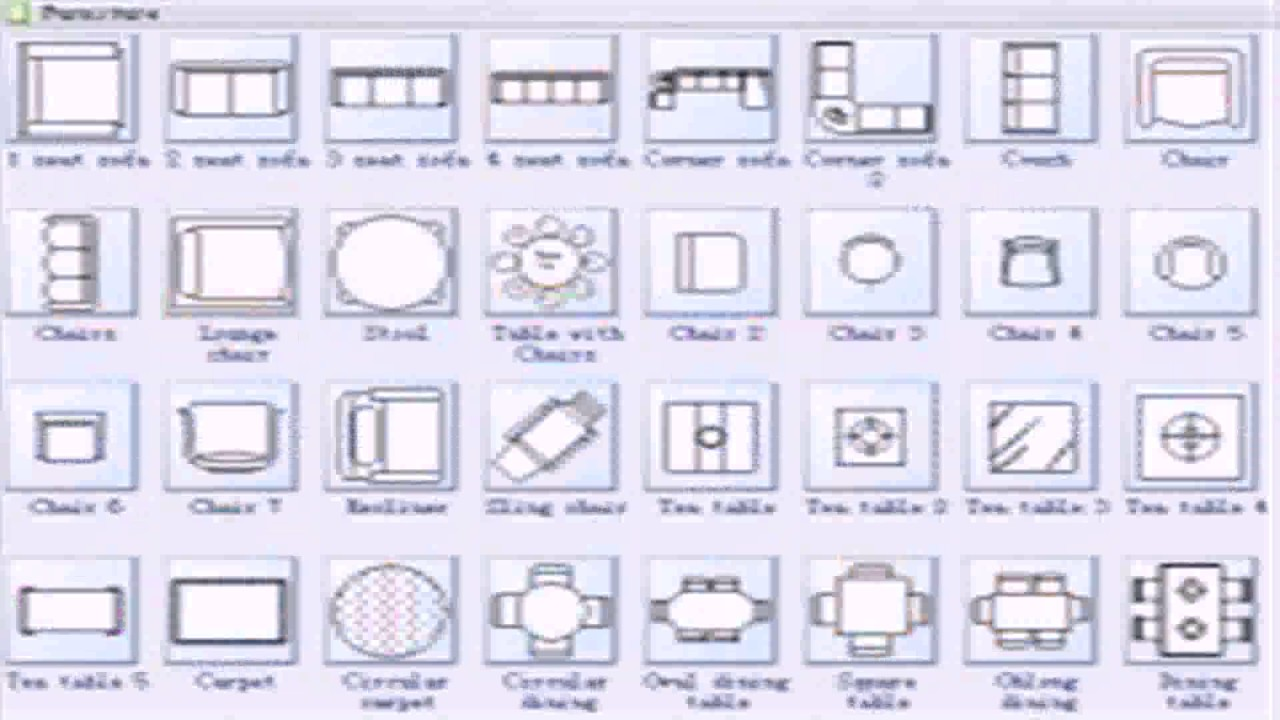 Floor Plan Symbols And Dimensions  YouTube