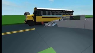 (ROBLOX) Crash between truck and school bus