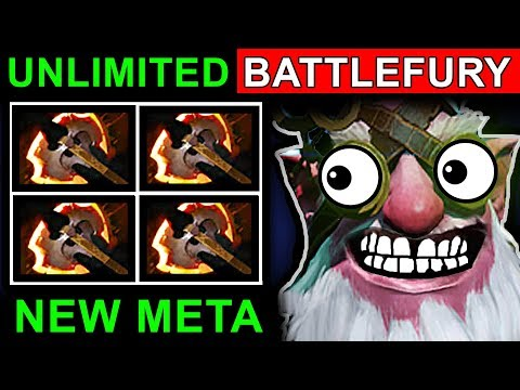 UNLIMITED BATTLEFURY SNIPER - DOTA 2 PATCH 7.07 NEW META PRO GAMEPLAY