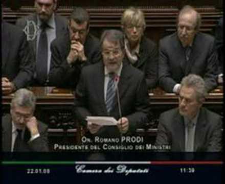 Discorso di Romano Prodi 22 Gennaio