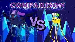Adventure Time Intro Stakes Comparison HD