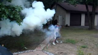 Grandson and playing with fireworks go wrong!