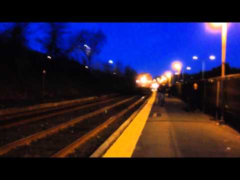 Evening trains in Newtonville