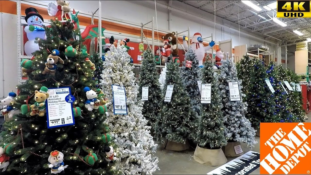 CHRISTMAS 2018 AT HOME DEPOT  CHRISTMAS TREES INFLATABLES ORNAMENTS DECORATIONS DECOR SHOPPING