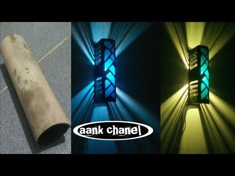 Ide kreatif bikin lampu hias dari pipa paralon bekas