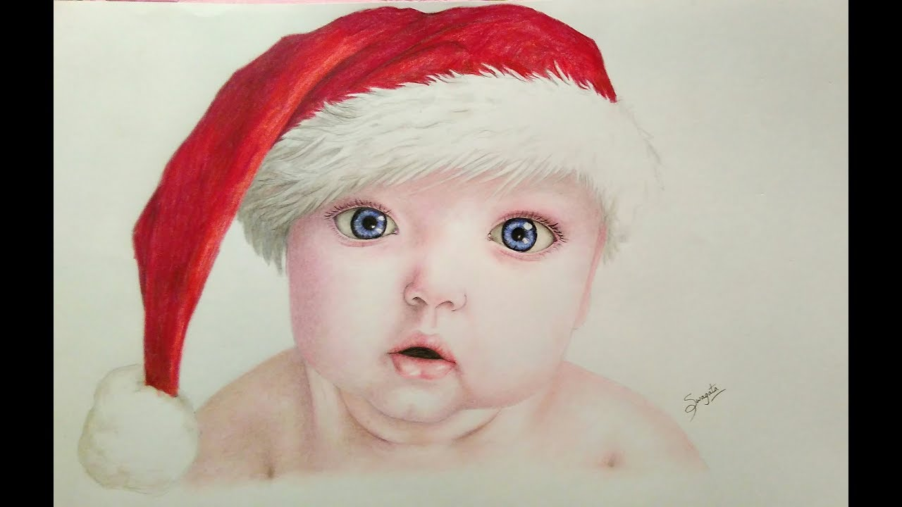 DRAWING A REALISTIC BABY    color pencil drawing timelapse ...