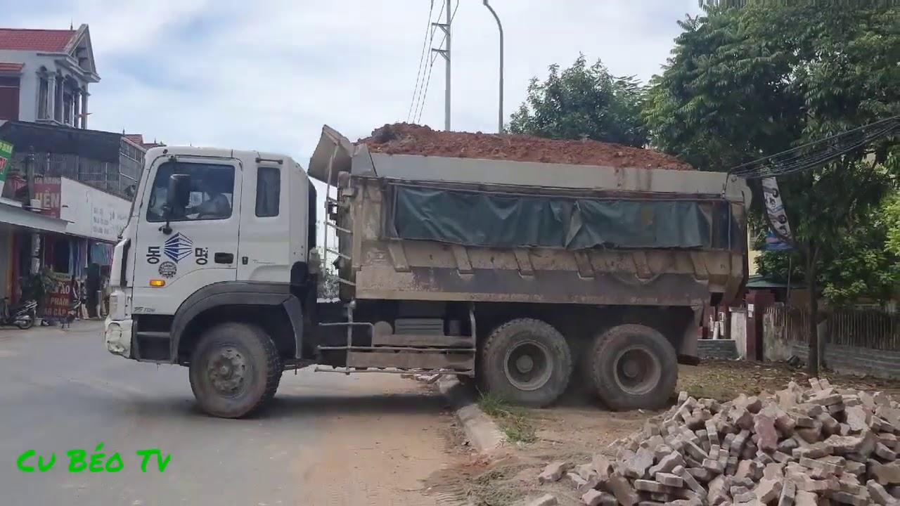 Xe ô tô chở đất đổ ben ❤. Land car dumping truck ❤.