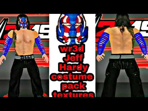 Wr3d Jeff Hardy new latest costume pack and face texture 👇link👇