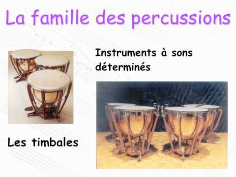 Les familles d'instruments (de l'orchestre)