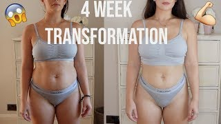MY 4 WEEK WEIGHT LOSS TRANSFORMATION   HOW TO LOVE YOUR BODY   AD