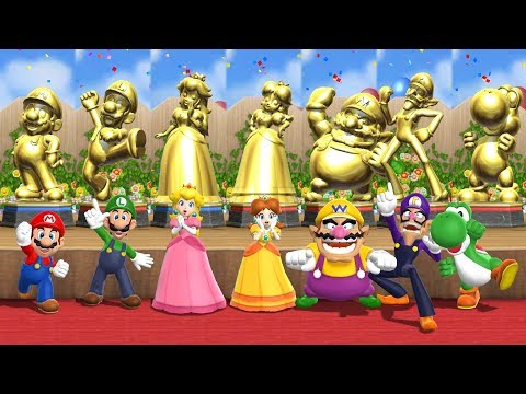 Mario Party 9 Step It Up - All Characters Master Difficulty Gameplay