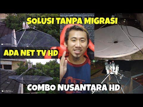 Menggabungkan Nusantara HD C Band dan Ku band