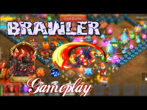 WARDEN Brawler Lv27 Gameplay INSANE! Castle Clash