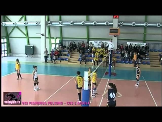 Vis Fiamenga Foligno vs CUS L'Aquila - 1° set