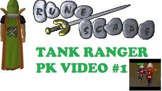 Old School 07 Runescape Tank Ranger PK Video #1