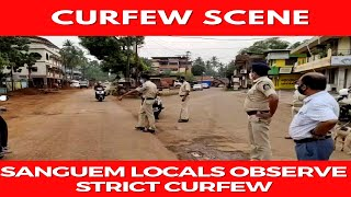 #WATCH | Sanguem locals determined to break the COVID chain, observe strict curfew