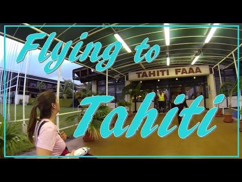 Flying to Tahiti