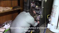 Rheem gas furnace service clean and check (flame sensor cleaning) part 3