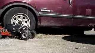 vuclip Cheap RC Truck Crushed By GMC Safari Van