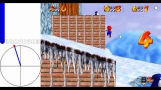 """Super Mario 64 [TAS] - Frosty Slide for 8 Red Coins (35""""43)"""