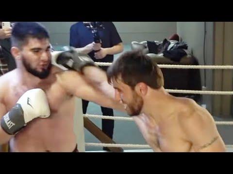 Бой Мурад Легенда vs Асхаб Тамаев. Полный бой. Нокаут. Бой Дацика