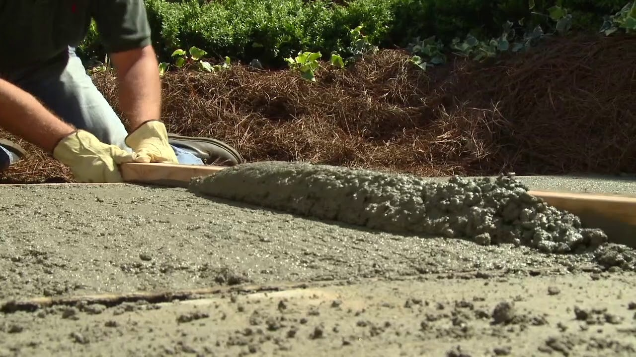 How To Pour And Finish Concrete Hi Res