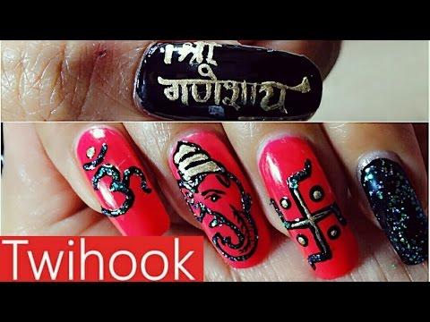 Ganesh chaturthi hindu festival 2016theme nail art design by ganesh chaturthi hindu festival 2016theme nail art design by priyanka prinsesfo Choice Image