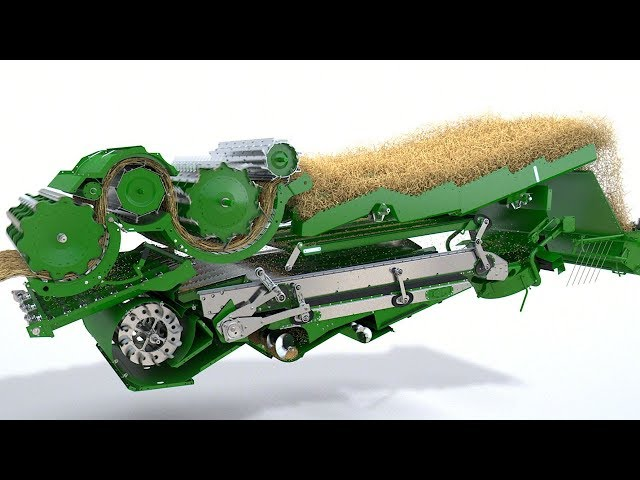 John Deere T-Series combine Animation