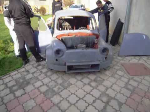 Car Zastava 750 Suzuki with motorcycle engine 900ccm progres
