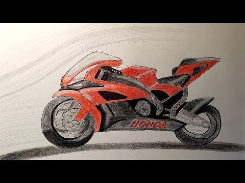 Как нарисовать мотоцикл урал