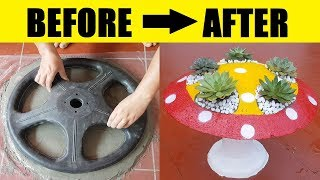 Amazing Fastest Skill DIY Flower Pots at Home - How to Make Cement Flower Pots Beautiful and Easy