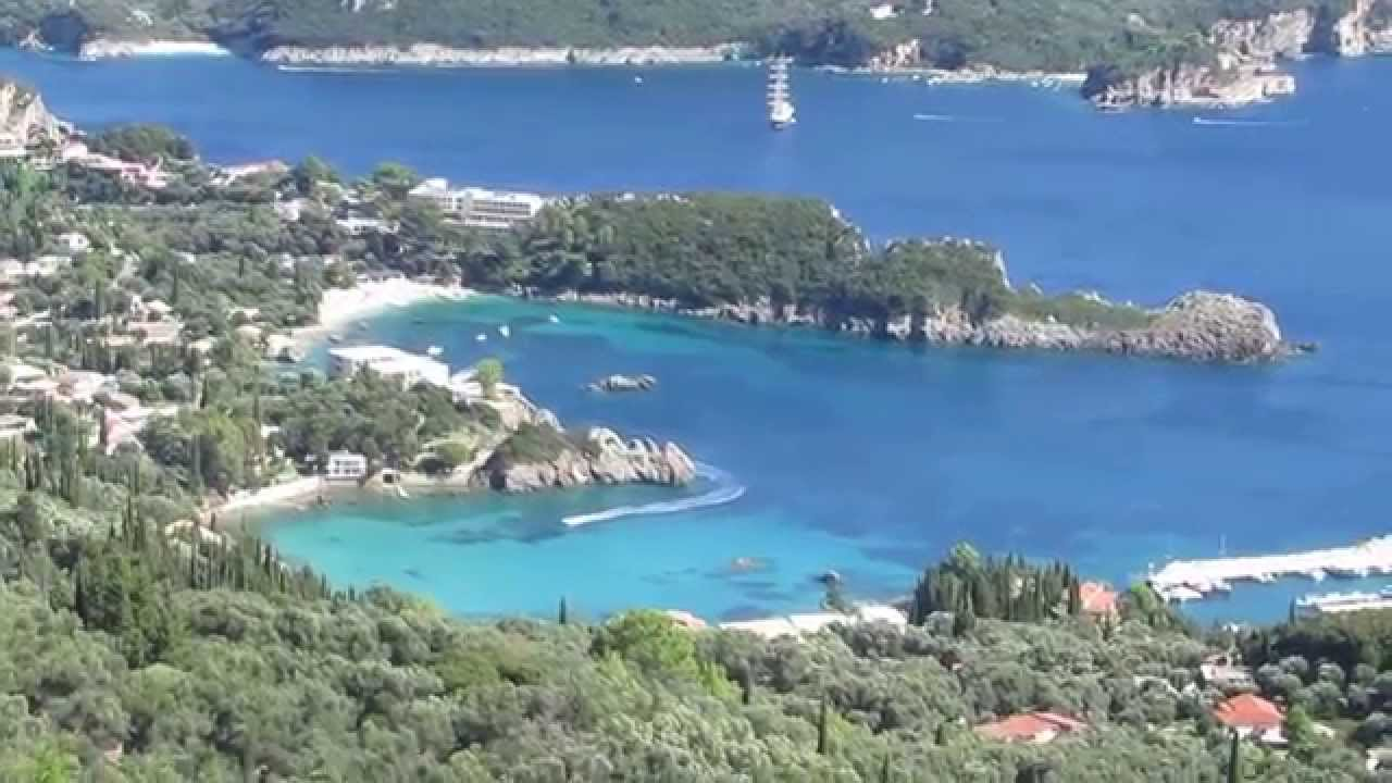 paleokastritsa corfu greece seen from bella vista youtube. Black Bedroom Furniture Sets. Home Design Ideas