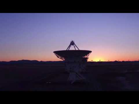 Drone flight over the NRAO Very Large Array
