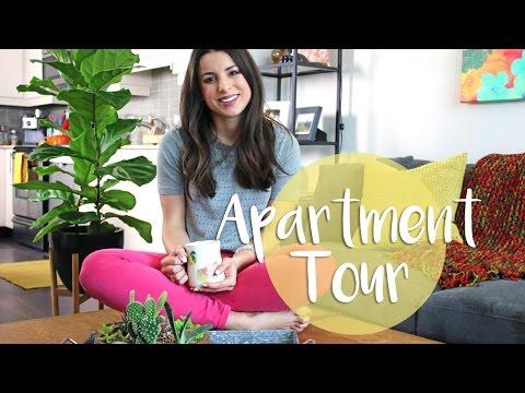 APARTMENT TOUR 2017 | DIY Pinterest Hexagon Shelves