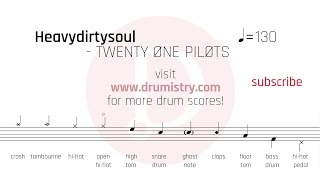 Twenty One Pilots   Heavydirtysoul Drum Score