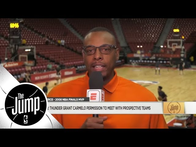 Paul Pierce: Carmelo Anthony would best fit with the Houston Rockets | The Jump | ESPN