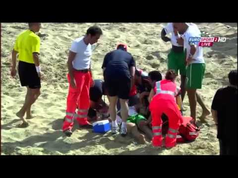 Beach Soccer - Bruno Torres - Injury 2012 in Italy