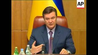 PM and President supporters rallies ; security; ADDS Yanukovych comments