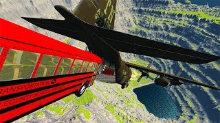 Jumping In Airplane Car Jumps BeamNG drive
