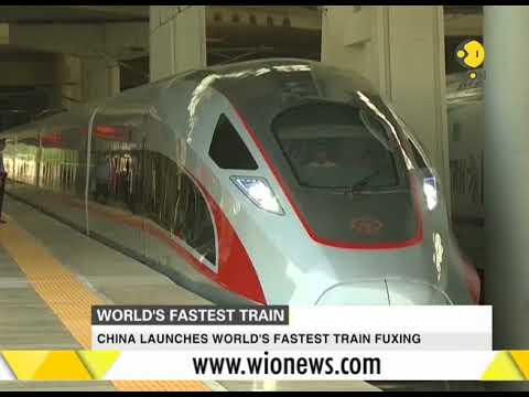 China launches world's fastest train
