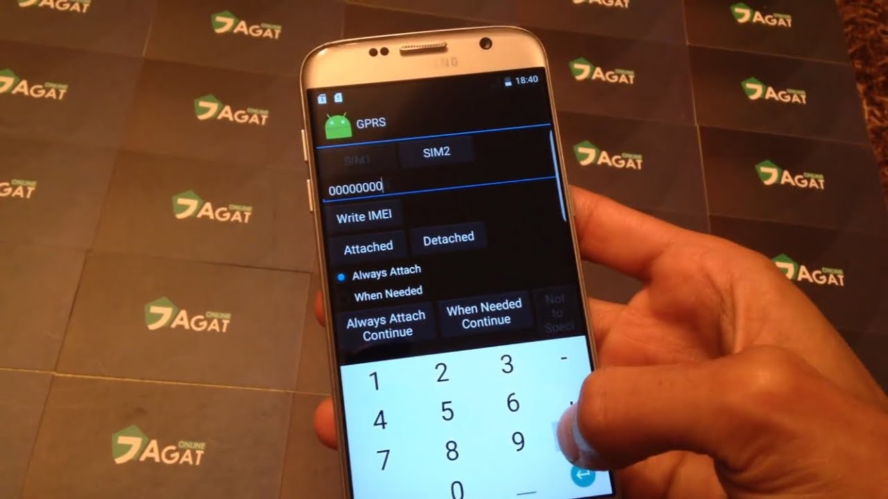 How to change IMEI for Samsung s7 Edge clone