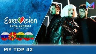 Eurovision 2018 - MY TOP 42 (so far) | & comments