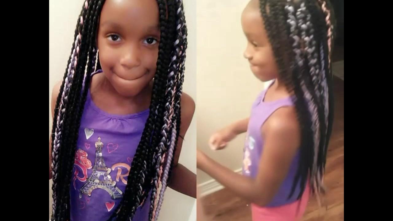 Box Braids Hairstyles Youtube: Kids Box Braids/ Protective Styles