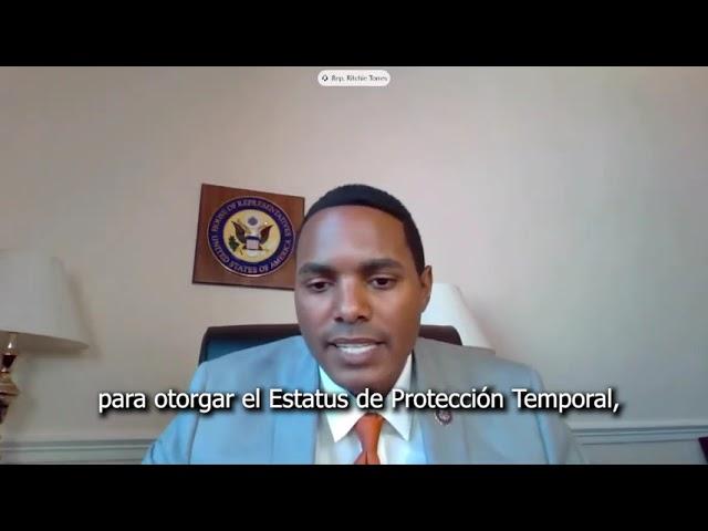 Rep Ritchie Torres standing up for Central American / Rep Ritchie aboga por TPS para Centroamérica