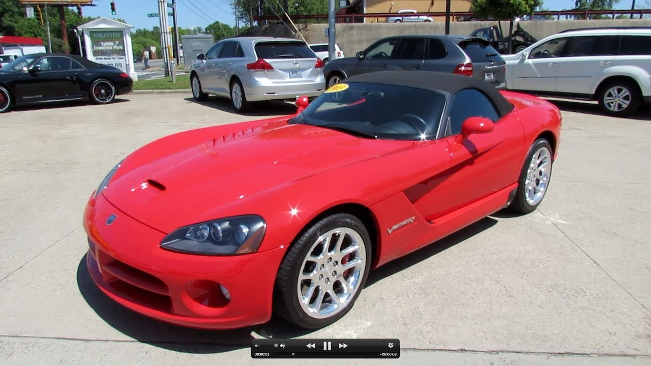 2003 dodge viper srt 10 start up exhaust and in depth review youtube