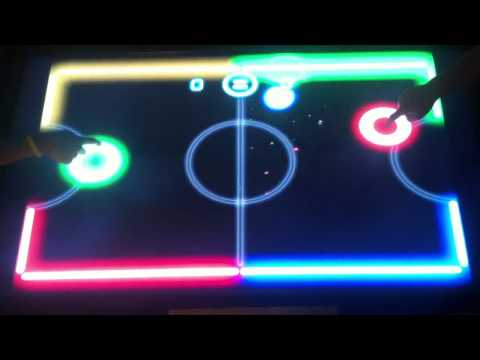 Padzilla giant iPad large iPhone multiplayer air hockey